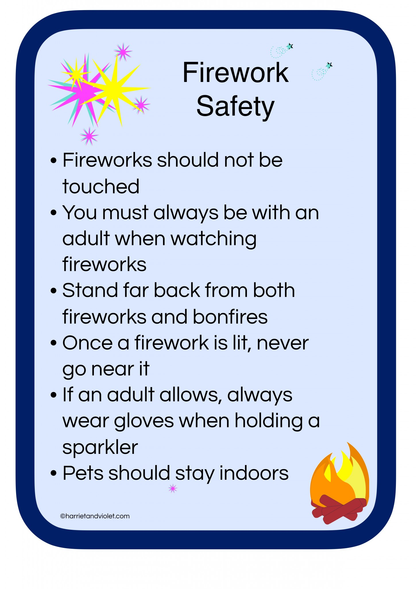 Firework Safety Poster
