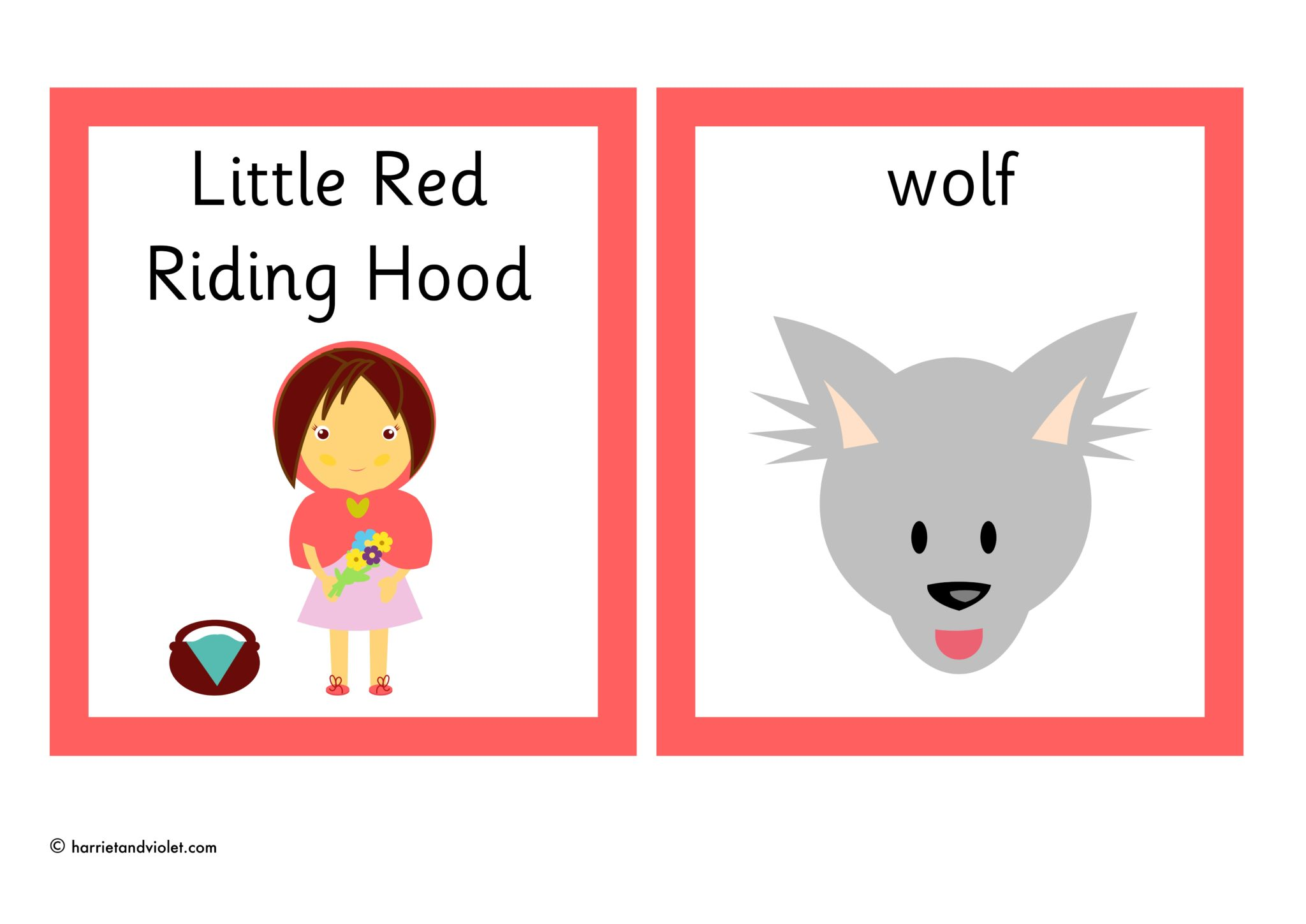 Little Red Riding Hood Flashcards