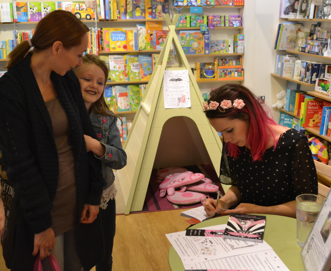 Signing Isadora Moon at the Welwyn Waterstones event