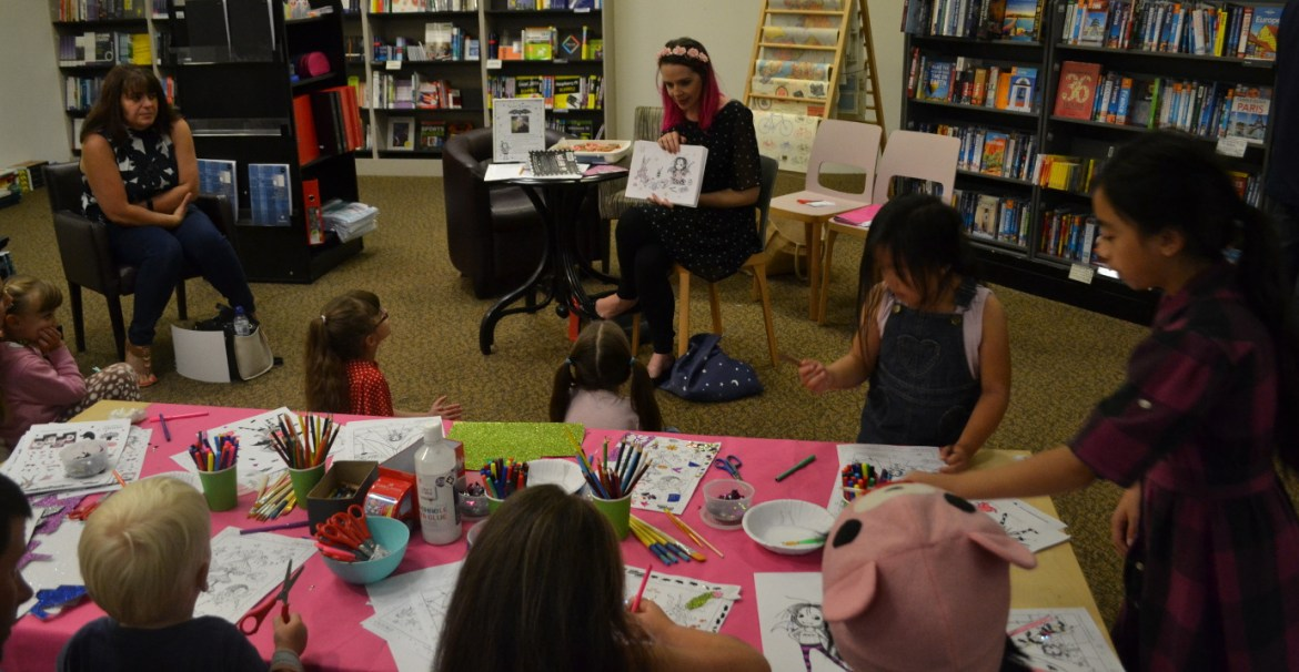 Children at the Hatfield Waterstones event