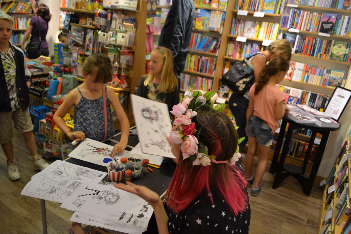 Harriet Muncaster at the Harpenden Books Isadora Moon event