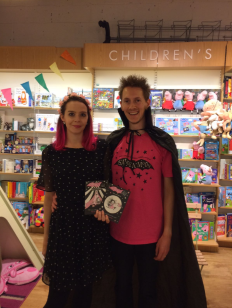Harriet Muncaster and Henry at Welwyn Waterstones - 19th August 2017