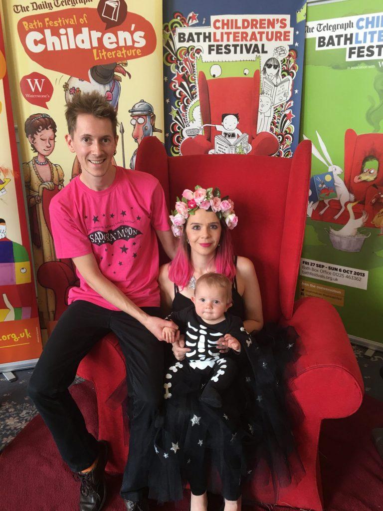 Harriet Muncaster in the Bath Children's Literature Festival Red Chair