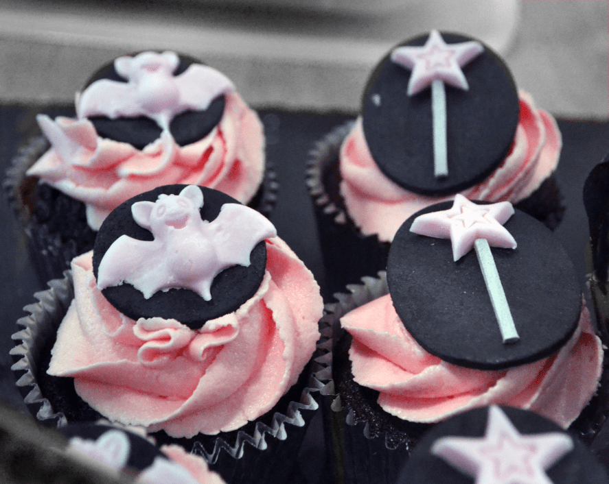 Isadora Moon cupcakes in Waterstones Portsmouth