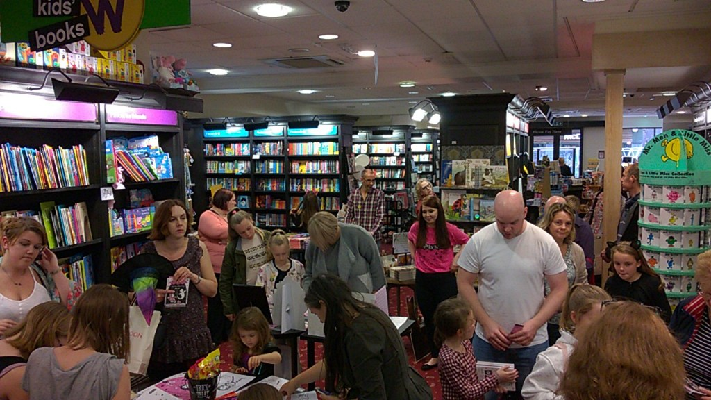 Attendees at the Isadora Moon event in Hereford Waterstones