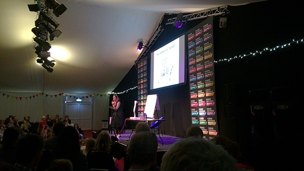 Harriet Muncaster at Cheltenham Literature Festival