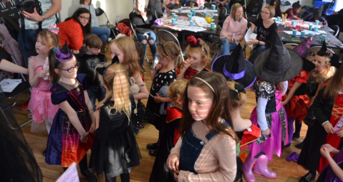Fancy dress Halloween costumes at Manchester Waterstones Isadora Moon Halloween Party