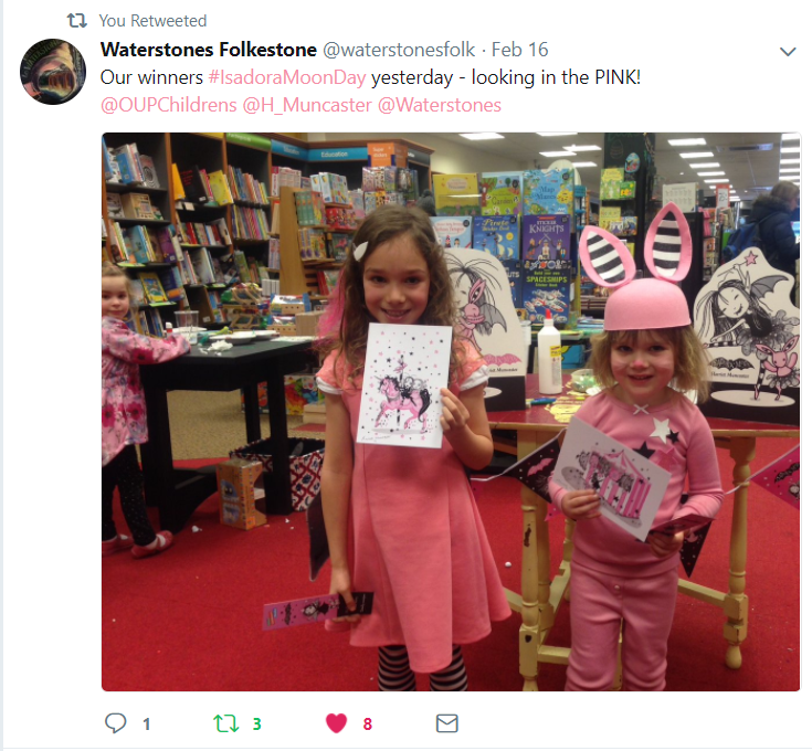 Isadora Moon Day Party at Waterstones Folkestone