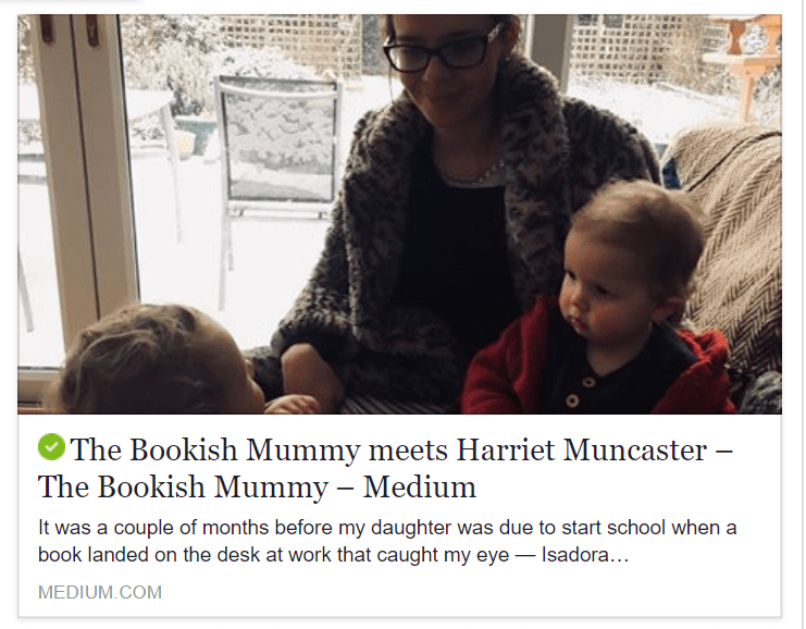 Harriet Muncaster interview with The Bookish Mummy