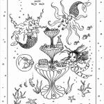 Isadora Moon in the Mermaid's Palace Colouring Sheet
