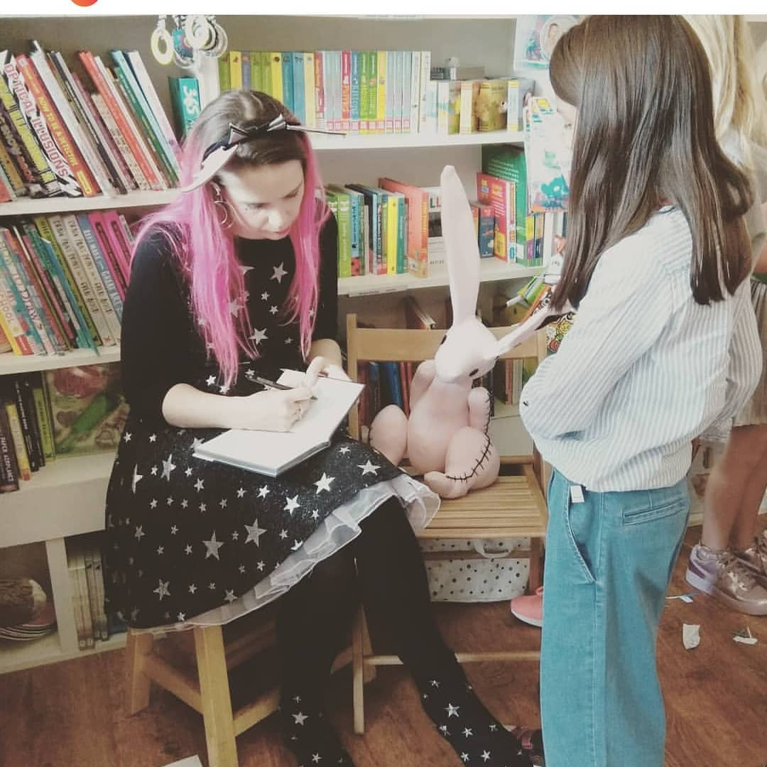 Harriet Muncaster signing Isadora Moon books at Tales on Moon Lane