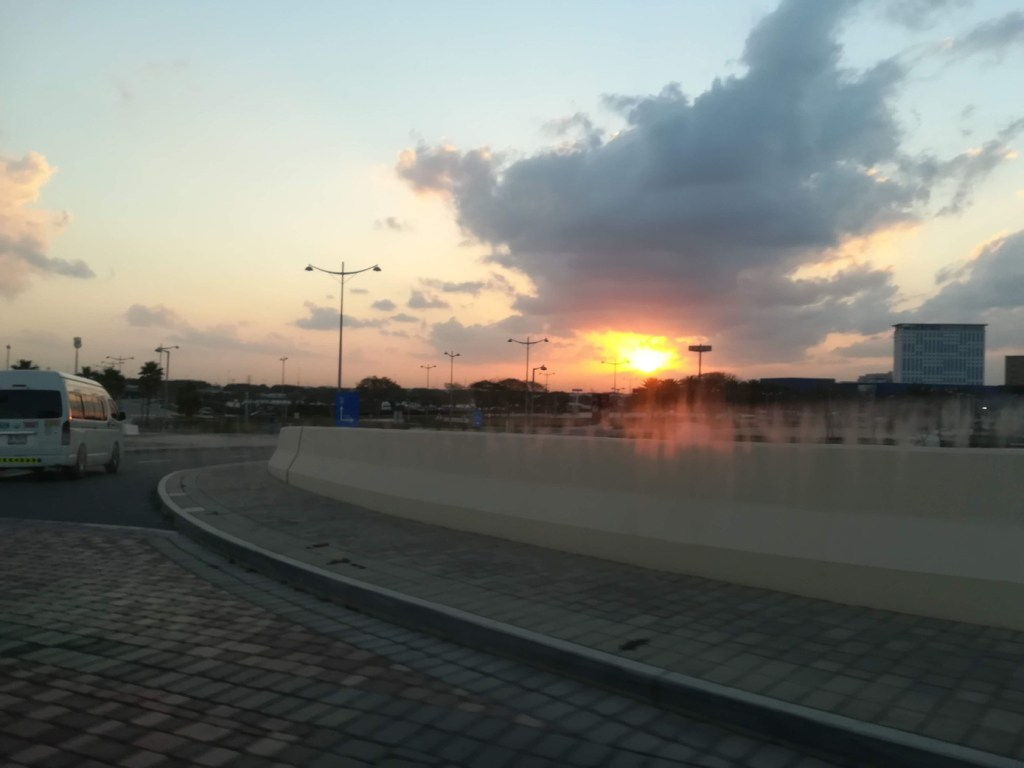 Sunrise on the way to Dubai airport