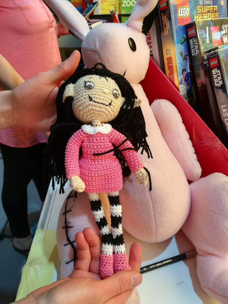 Handmade Isadora Moon Doll at Madrid Book Fair 2019