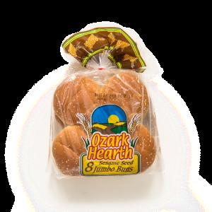 Ozark Hearth 8 Sesame Seed Jumbo Buns