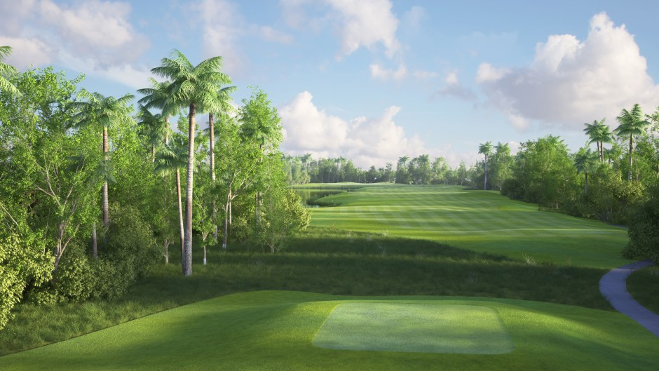 Image showing the 18th tees at the Garden City Golf Course in Port Harcourt