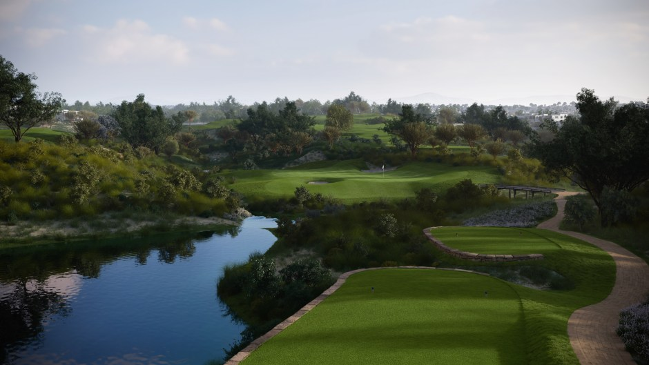 CGI showing a view from the tee on the proposed 6th hole