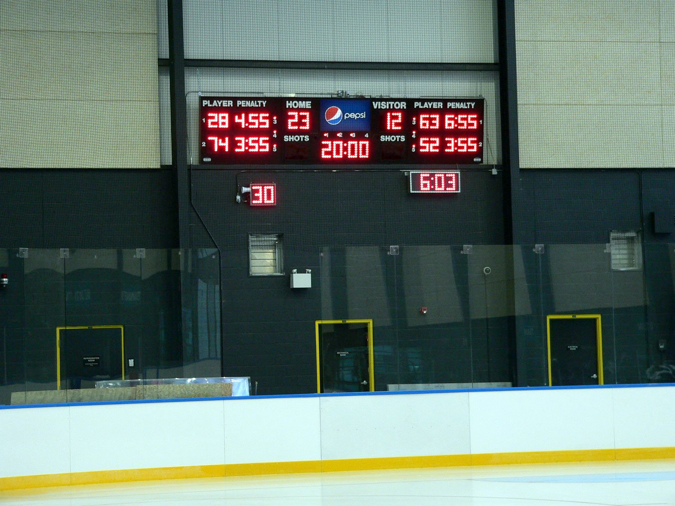 Harris Time scoreboard
