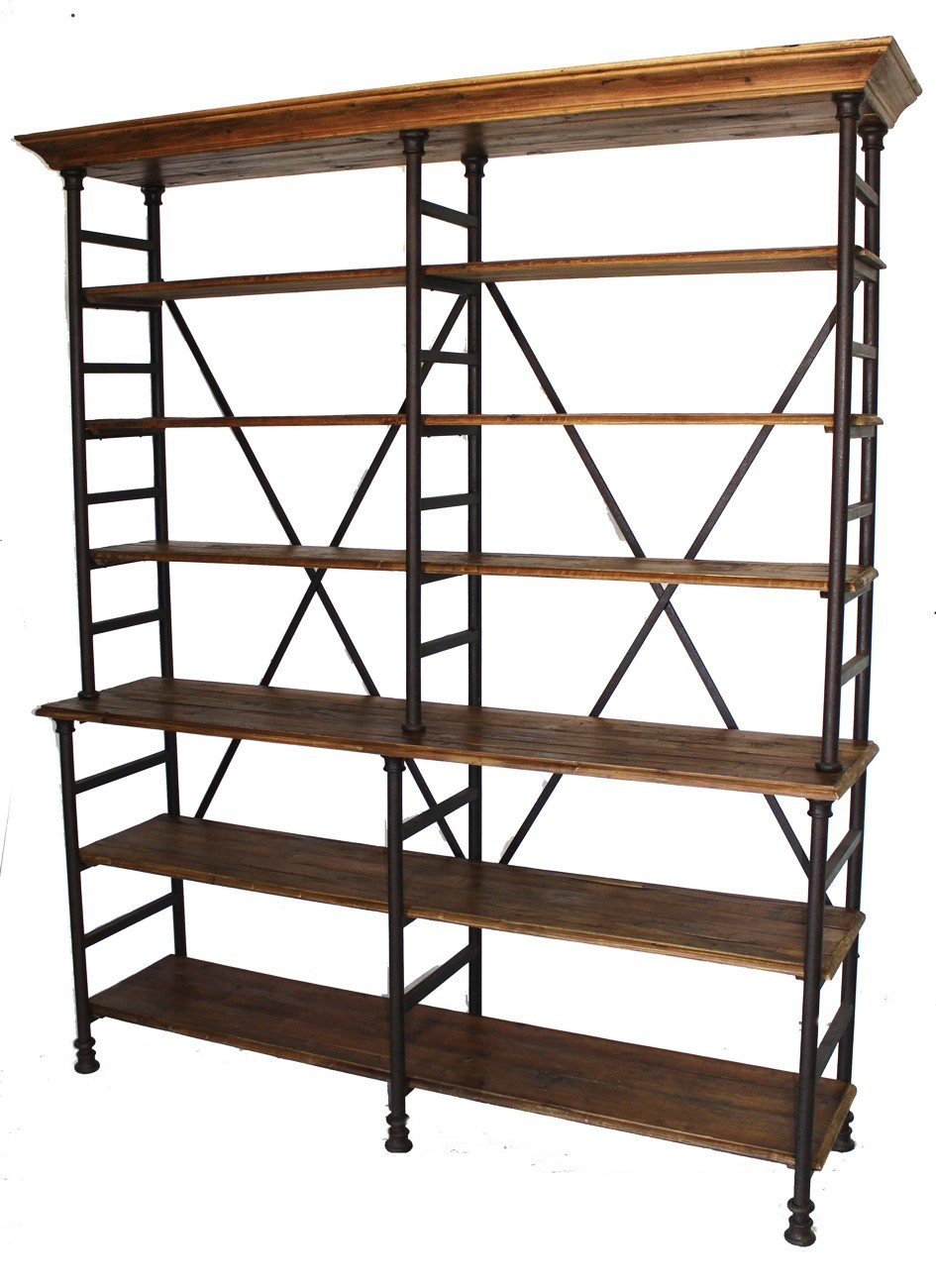 Iron Bookshelf 28 Images Two 68 Stately Industrial