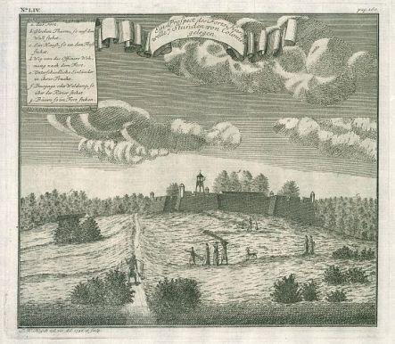 Hanwella Fort in 1736
