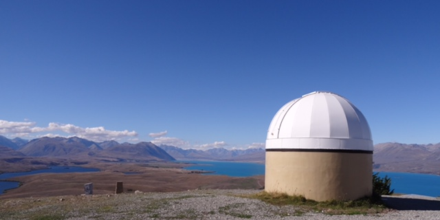 One of the astronomical observatory domes above Lake Tekapo.