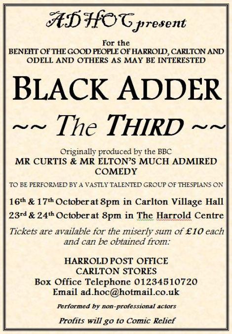 Blackadder III A4 poster