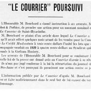 """«""""Le Courrier"""" poursuivi»"""