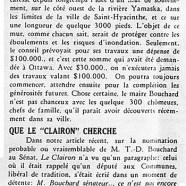 """«Pour Saint-Hyacinthe: 30,000$; Que """"Le Clairon"""" cherche»"""
