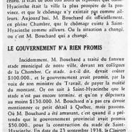 «M. Bouchard et nos chômeurs; Le gouvernement n'a rien promis»