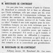 «M. Bouchard et l'enseignement technique; M. Bouchard se contredit; M. Bouchard se recontredit; M. Bouchard bafouille»