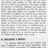 «Les principes de 89; M. T.-D. Bouchard a mordu»