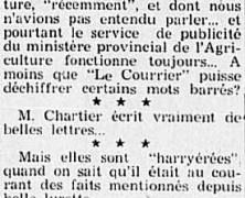"""«""""Le Courrier"""" tient à ses """"Beurrées"""" hebdomadaires»"""