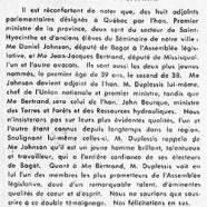«MM. Daniel Johnson et Jean-Jacques Bertrand»