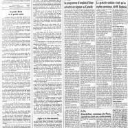 """«La page éditoriale du """"Courrier"""" en 1958»"""