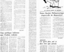 """«La page éditoriale du """"Courrier"""" en 1969»"""