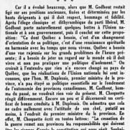 «De M. Adélard Godbout à M. Fernand Choquette»