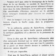 «M. René Saint-Pierre songe-t-il à quitter la politique?»