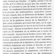«L'Union nationale ne signera point l'arrêt de mort du Québec»