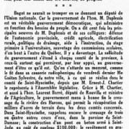 «Que le comté de Bagot élise un député de l'Union nationale»