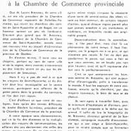 «M. Lucien Brosseau accède à la Chambre de Commerce provinciale»