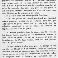 «M. Jean Lesage, homme d'un autre âge»