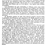«M. Bennett et le Québec»