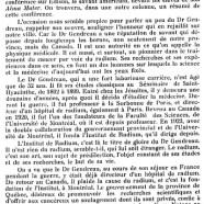 «Le Dr Ernest Gendreau»