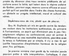 «L'honorable Maurice Duplessis et le sophisme de M. Jean Lesage»