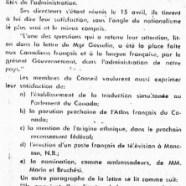 «Le Conseil de Vie française loue l'oeuvre de John Diefenbaker»