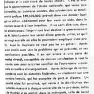 «L'honorable Maurice Duplessis et l'aide fédérale aux universités»
