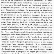 «Maurice Duplessis et le capital humain»