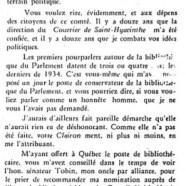«Lettre ouverte à l'honorable M. Bouchard»