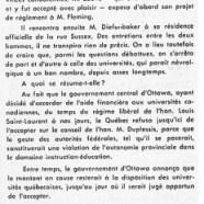 «L'honorable Paul Sauvé et le problème des universités»