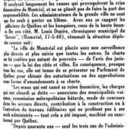 «Montréal en tutelle»