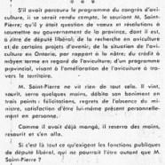«Comment M. René Saint-Pierre représente mal un ministre»